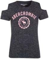 Abercrombie & Fitch PEPLUM Print Tshirt navy