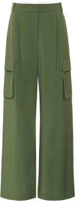 Tibi Wool-blend high-rise wide-leg pants