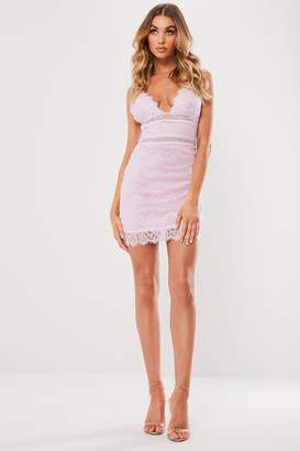 Missguided Pink Lace Cami Mini Dress