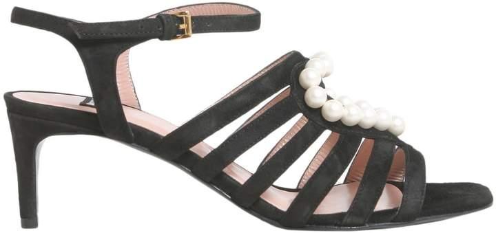 Moschino Suede Sandals