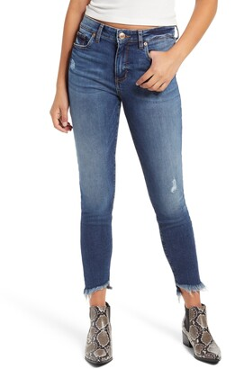 STS Blue Ellie High Rise Frayed Hem Skinny Jeans