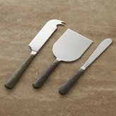 Crate & Barrel Taz Cheese Knife 3-Piece Set