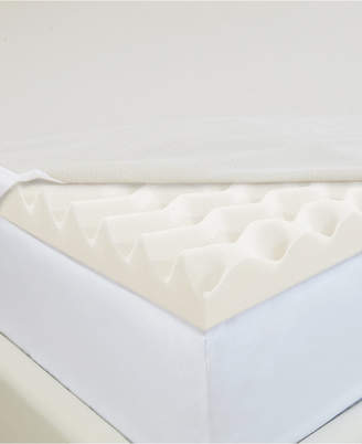 """CopperFresh Wave 2"""" Foam Twin Xl Mattress Topper with Copper-Embedded Cover"""