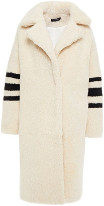 Muu Baa Muubaa Kuna Striped Shearling Coat