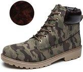 LOVEBEAUTY Men's Lace Up Low Heel Combat Boots Ankle Bootie US 11(EU 45)