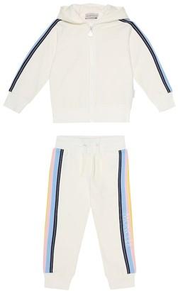 Moncler Enfant Logo stretch-cotton tracksuit