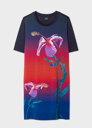 Paul Smith Women's Gradient 'Floral' Print Jersey Dress