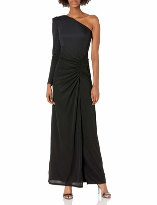 Halston Women's Long Sleeve Ruched Gown