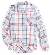 Fire Girl's Love, Plaid Woven Shirt