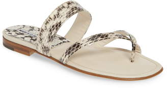 Manolo Blahnik 'Susa' Genuine Snakeskin Sandal
