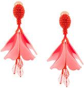 Oscar de la Renta floral drop earrings