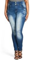 City Chic Plus Size Women's Ocean Apple Stretch Skinny Jeans