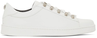 Balmain White Stamped Sneakers