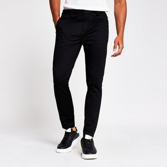 River Island MCMLX black skinny zip pocket trousers
