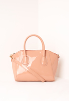 Missguided Mini Winged Tote Bag Blush Pink