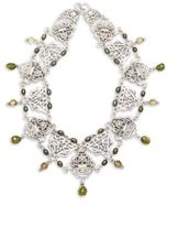 Stephen Dweck Green Pearl & Sterling Silver Necklace