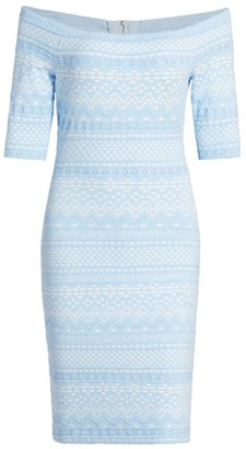Milly Off-The-Shoulder Knit Dress