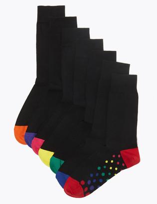 Marks and Spencer 7 Pack Cool & Fresh Polka Dot Socks