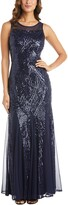 Thumbnail for your product : Nightway Embellished Mesh Gown