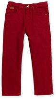 Mayoral Regular-Fit Faded Denim Jeans, Red, Size 3-6
