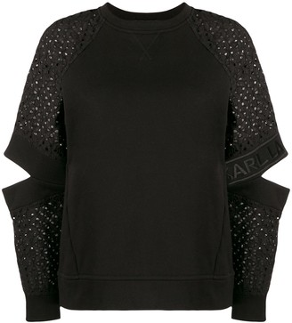 Karl Lagerfeld Paris Cut-Out Sleeve Jumper