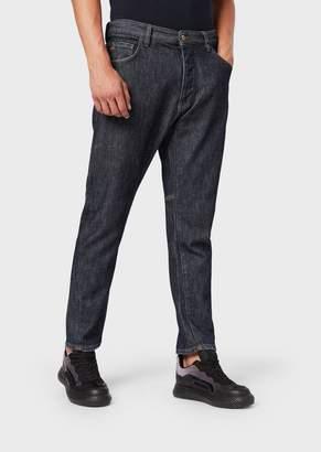 Emporio Armani Loose-Fit J04 Jeans In Cotton Twill
