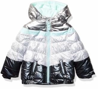 London Fog Girls' Toddler Shine Puffer Jacket