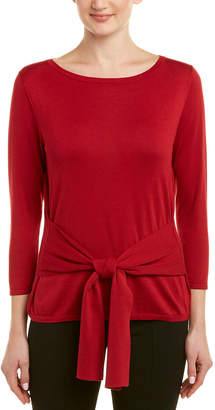 Lafayette 148 New York Boatneck Silk-Blend Sweater