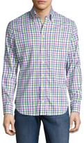 Cotton Checkered Print Sportshirt