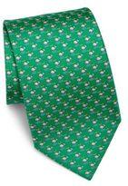 Salvatore Ferragamo Dolphin Silk Tie