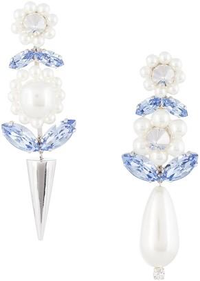 Simone Rocha Dropped Floral-Inspired Earrings