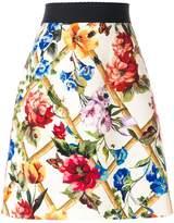 Dolce & Gabbana floral print A-line skirt