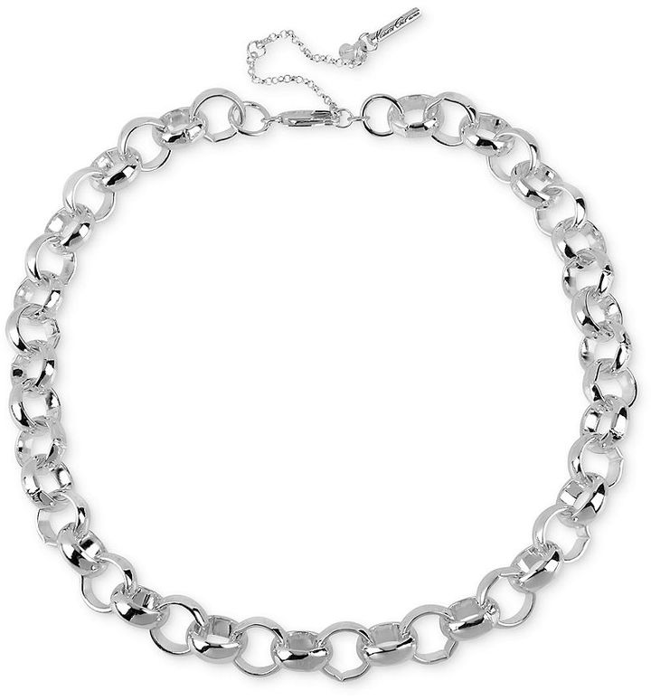 Kenneth Cole New York Necklace, Silver-Tone Circle Link Necklace