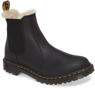 Dr. Martens 2976 Faux Shearling Chelsea Boot
