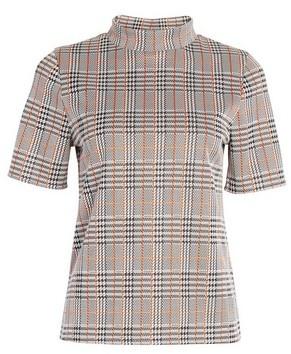 Dorothy Perkins Womens Multi Colour High Neck Jacquard Top, Multi Colour