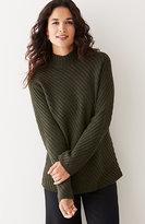 J. Jill Diagonal-Stitch Sweater