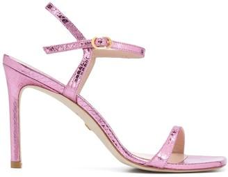 Stuart Weitzman Metallic High Heel Sandals
