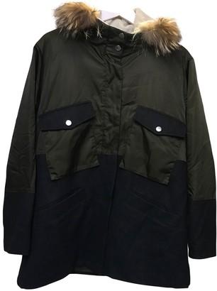 Gerard Darel Khaki Wool Coat for Women