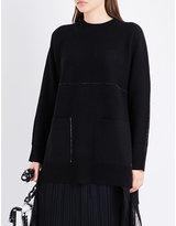 Proenza Schouler Pocket-detailed knitted cashmere-blend jumper