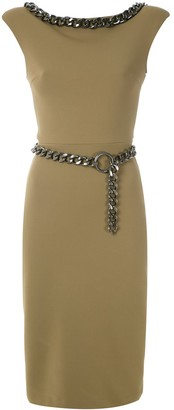 Gloria Coelho chain embellished dress
