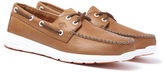Sperry Sojourn Dark Tan Leather Boat Shoes