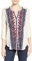 Lucky Brand Women's Placed Print Top