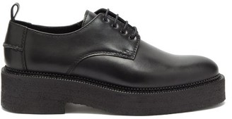 Ami Chunky-sole Leather Derby Shoes - Black