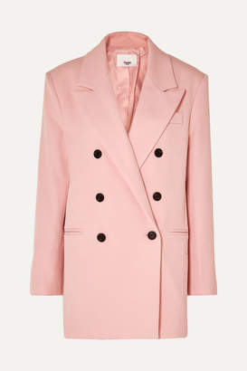 Frankie Shop - Julie Double-breasted Gabardine Blazer - Pink