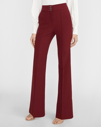Express Super High Waisted Supersoft Seamed Flare Pant