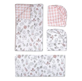 Living Textiles Lolli Living 4 Peice Crib Bedding Set Kayden Woodlands