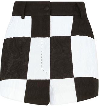 Dolce & Gabbana Damier jacquard-woven shorts