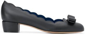 Salvatore Ferragamo Bow Detail Leather Pumps