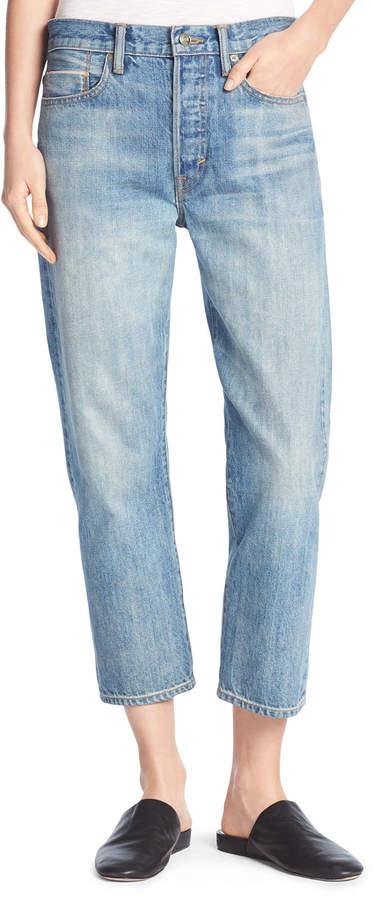 Vince Union Slouchy Denim Jeans, Mid Wash