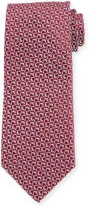 Charvet Men's Micro Contrast-Pattern Silk Tie